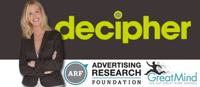 Decipher's Kristin Luck Wins Advertising Research Foundation Great Minds Award - Market Research Bulletin   Research Topics   Scoop.it