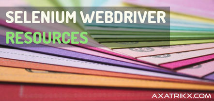 Selenium WebDriver: 35 Tutorial Resources - Axatrikx | Bazaar | Scoop.it