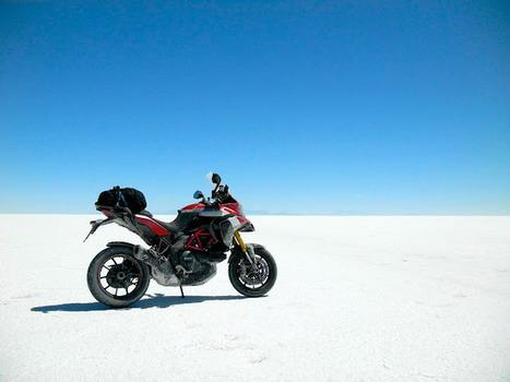 DUCATI MULTISTRADA 1200 - SALAR DE UYUNI - BOLIVIA | Vintage Motorbikes | Scoop.it