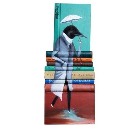 Book painting, Mike Stilkey | Design Playground | italian Design Blog | Word Art | Scoop.it