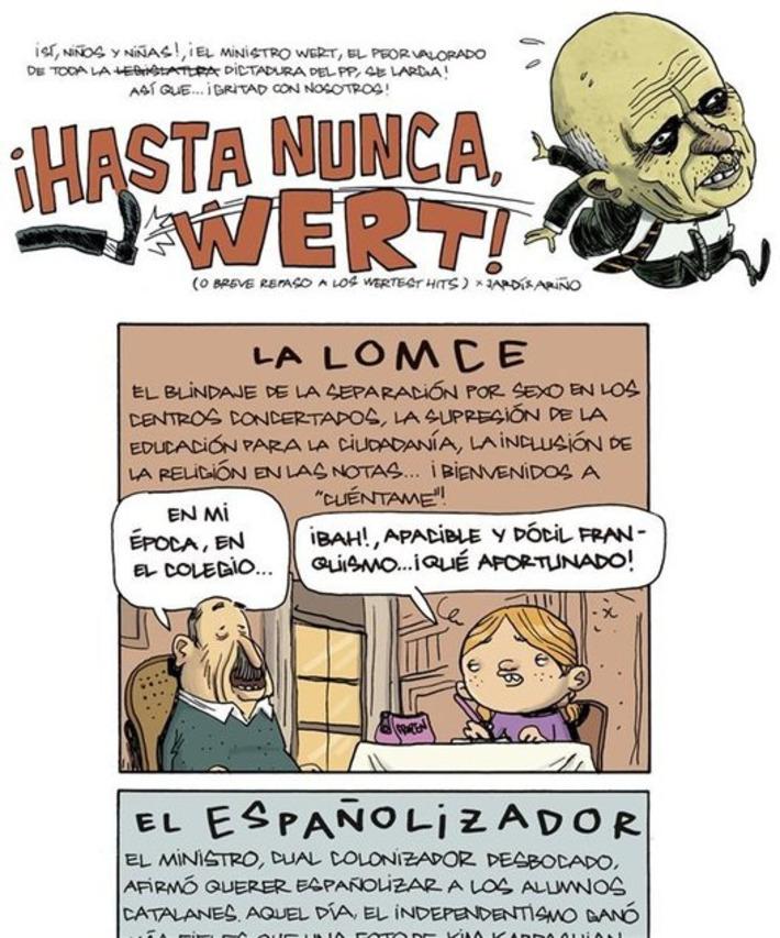 ¡Hasta nunca, Wert! · eljueves.es · Actualidad | Partido Popular, una visión crítica | Scoop.it