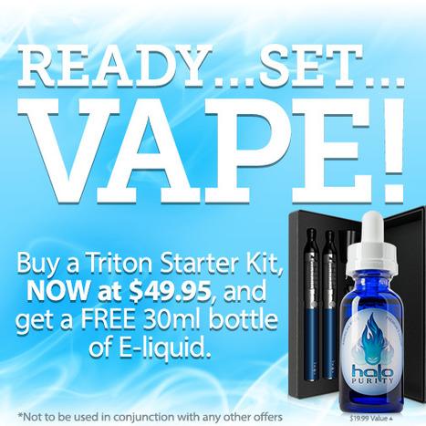 $49.95 Triton Starter Kit + Free 30ml | E-Cigarettes | Halo Cigs | Scoop.it