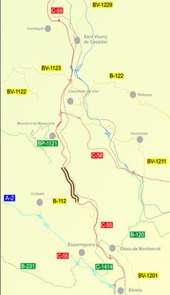 Territori i Sostenibilitat farà un tercer carril i una barrera central a la C-55 a Collbató | #territori | Scoop.it