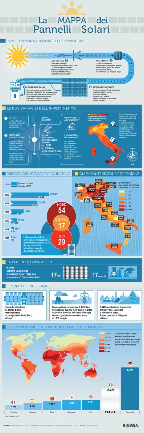 Pannelli solari: la mappa degli impianti in Italia Infografica Visiwa | Green Economy in Italy | Scoop.it