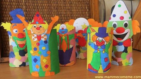 Mamme come me: Carnevale: i pagliacci | Lavoretti | Scoop.it