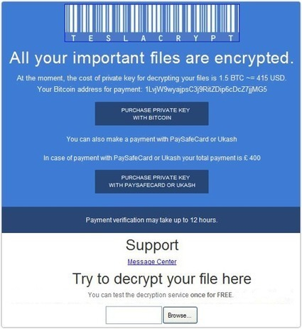 """TeslaCrypt ransomware attacks gamers - """"all your files are belong to us!"""" 