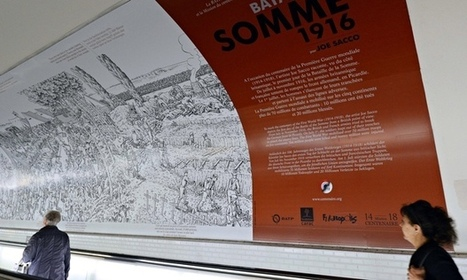 Joe Sacco's Great War graphic tableau becomes giant Paris metro poster | Illustration Cloud - in the wild | Scoop.it