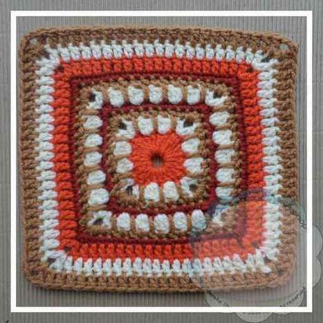 Bold Cluster Square– #CAB 019 | Crochet Patterns and Tutorials | Scoop.it
