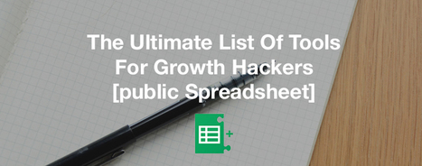 The Ultimate List Of Tools For Growth Hackers | Online Marketing Resources | Scoop.it