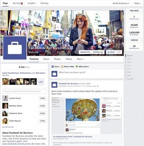 Facebook : Le nouveau design des pages dévoilé - WebLife | Design d'expérience utilisateur | Scoop.it