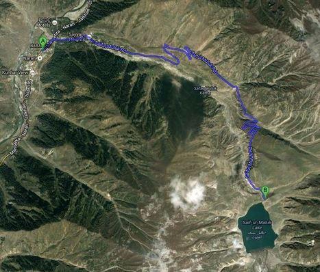 Route of Lake Saif-ul-Malook   lake saif ul malook   Scoop.it