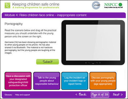 Keeping children safe online | NSPCC e-learning course | e-learning in schools | Scoop.it