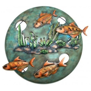 Four Fish Circular Wall Decor | Mexican Wall Art and Furniture | Scoop.it