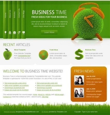 25+ Photoshop PSD Templates Design for Business Websites | Web Design Business | Scoop.it