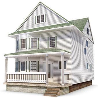 Maison américaine Low Poly | 3D Library | Scoop.it
