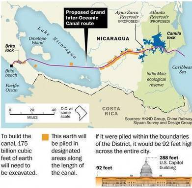 Can Chinese billionaire Wang Jing overcome fierce opposition to build a canal across Nicaragua? | Geography education in Australia | Scoop.it