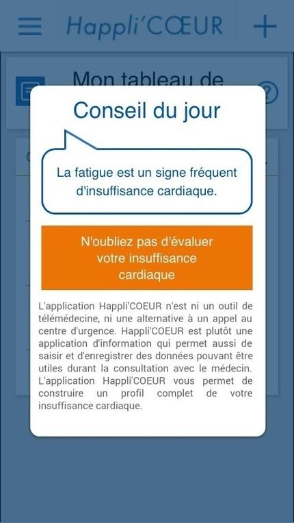 Happli'CŒUR, l'application pour les patients insuffisants cardiaques | Sante-Digitale.fr | ActuLab's | Scoop.it