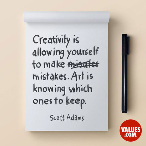 """""""Creativity is allowing yourself to make mistakes. Art is knowing which ones to keep."""" 