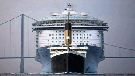 The Titanic was ridiculously tiny compared to modern cruise ships | Cruising | Scoop.it
