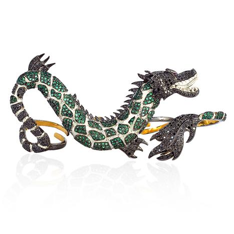 Emerald Diamond Dragon Knuckle Ring | Diamond Jewelry | GemcoDesigns | Pave Diamond Bangle | Diamond Jewelry | GemcoDesigns | Scoop.it