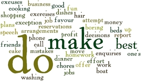 Difference between DO and MAKE - 60 Collocations | Espresso English | Magis | Scoop.it