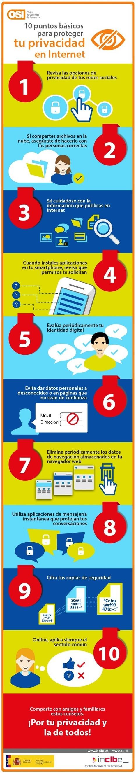 10 puntos básicos para proteger tu seguridad en Internet #infografia #infographic | Wallet Digital - Social Media, Business & Technology | Scoop.it