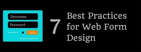 7 Best Practices for Web Form Design - Business 2 Community   Social Leads Generation   Scoop.it