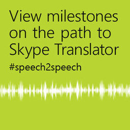 skype tanslator enables Cross-Lingual Conversations in Real Time @MicrosoftResearch | Social media and languages | Scoop.it