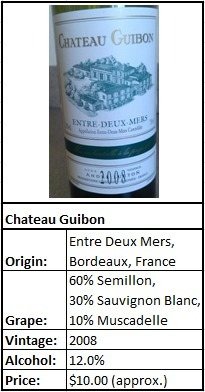 Tasting White Bordeaux From Entre Deux Mers « What's Worth Drinking | Bordeaux wines for everyone | Scoop.it