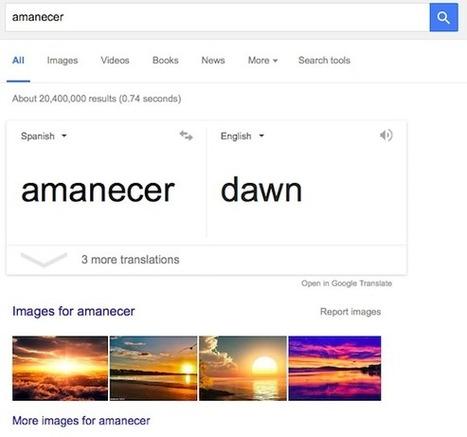 La traducción automática de Google Search - Nerdilandia | El rincón de mferna | Scoop.it