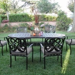CBM Outdoor Cast Aluminum Patio Furniture 7 Pc Dining Set G CBM1290 | Furniture Shoppy | Best Patio Furniture Sets | Scoop.it