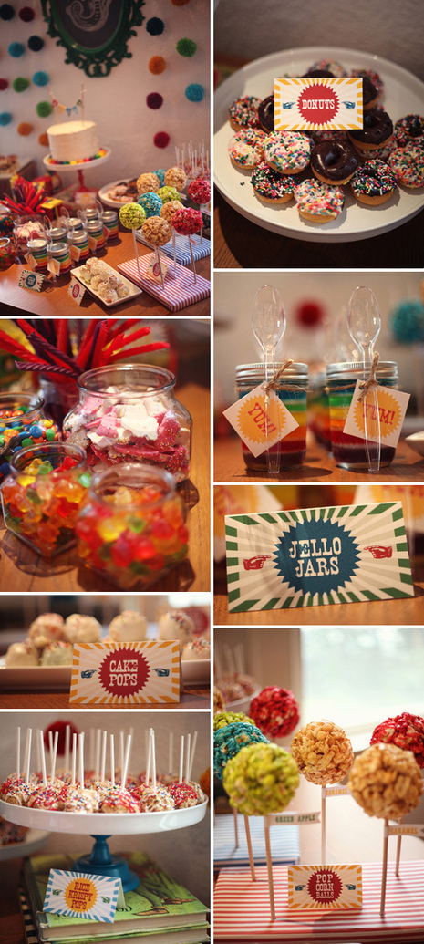 Colorful DIY Birthday Party with Budget-Friendly Handmade Details | Party Ideas | Scoop.it
