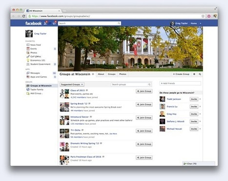 Facebook Launches Groups For Colleges And Universities With ... | teaching with technology | Scoop.it
