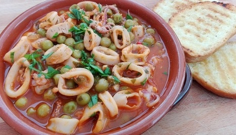 Calamari Stew with Peas recipe | Le Marche another Italy | Scoop.it