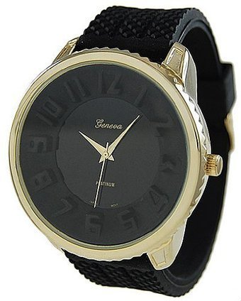 ***  RCG2084-BLK-GLD Geneva Platinum 2084 Mens Silicone Sporty Watch – Black/Gold Geneva | Cheap Casual Watches Men | Scoop.it