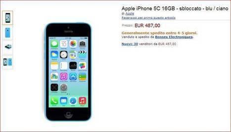 iPhone 5c 16GB blu/ciano a 487€ su Amazon | Angariblog.net | AngariBlog | Scoop.it