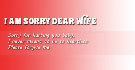 I am Really Sorry Dear Wife   Entertainment   Scoop.it