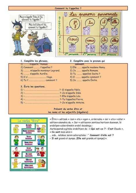 Renforcer 1er Cours FRANÇAIS FLE | mômes&ligne | Scoop.it