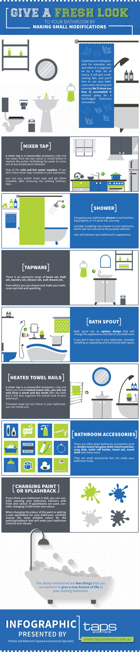 Infographic: Give A New Look To Your Bathroom By Making Small Modifications   Bathroom Accessories   Scoop.it