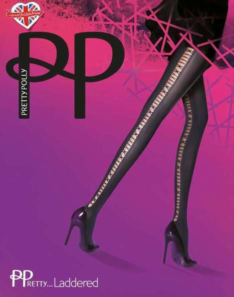 Ondoorzichtige pantys met gaatjespatroon in naad-optiek PPretty ... Laddered van Pretty Polly zwart, maat one size   pantys-boutique.nl   Pantys Kousen   Scoop.it