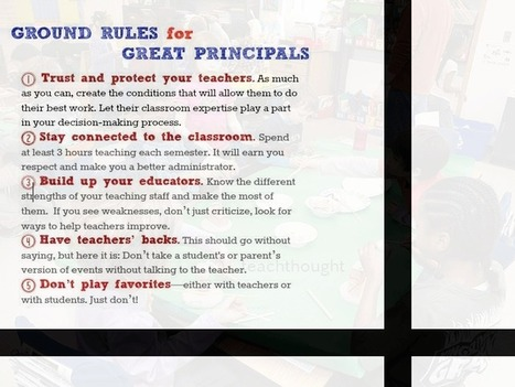 9 Ground Rules For Great Principals - | School Leadership for 21st Century | Scoop.it