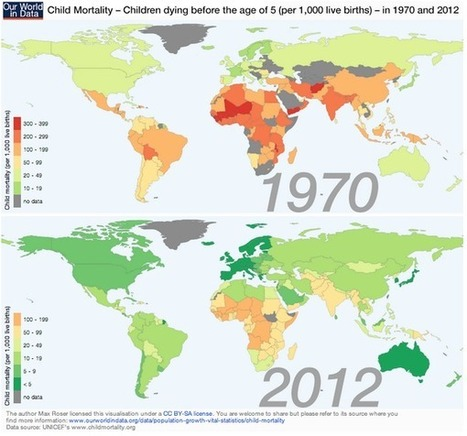 Uplifting map of the day: fewer children die each year - Humanosphere | Geography | Scoop.it