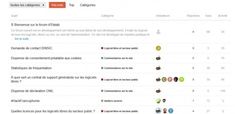 Expérimentation du forum.etalab.gouv.fr : une plateforme pour les contributeurs du logiciel libre dans l'administration | Libre de faire, Faire Libre | Scoop.it