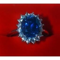 Jual Perhiasan Exclusive ~ Cincin Emas Putih Mata Batu Mulia King Sapphire Bertabur Berlian | Toko Bagus | Scoop.it