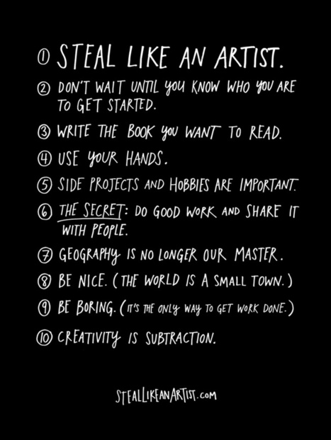 Austin Kleon on 10 Things Every Creator Should Remember But We Often Forget | Creativity & Decision-Making | Scoop.it