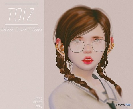 Broken Silver Glasses Group Gift by Toiz | Teleport Hub - Second Life Freebies | Second Life Freebies | Scoop.it