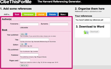 CiteThisForMe - The Harvard Referencing Generator | 21st Century Information Fluency | InformationFluencyTransliteracyResearchTools | Scoop.it