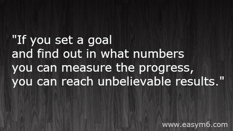 Set a Goal, Find Out a Measure and You Will Achieve It | Internet Marketing Z6 | Scoop.it