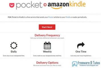 P2K : pour envoyer des articles de Pocket sur votre Kindle ~ Freewares & Tutos | TIC et TICE mais... en français | Scoop.it