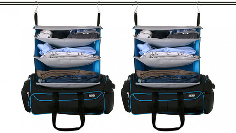 The Perfect Weekend Bag Transforms Into a Pre-Stocked Hanging Shelf | News we like | Scoop.it